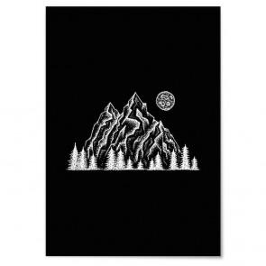 Poster Dot Art Gebirge