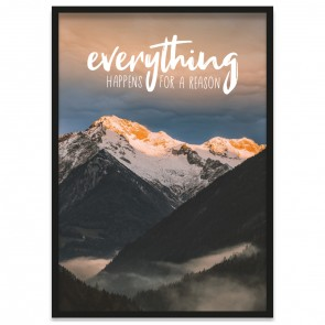 Poster everything happens for a reason