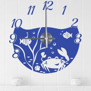 Wandtattoo Uhr - Meeresbewohner