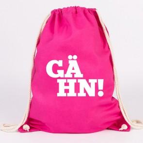 juniwords turnbeutel gaehn! pink