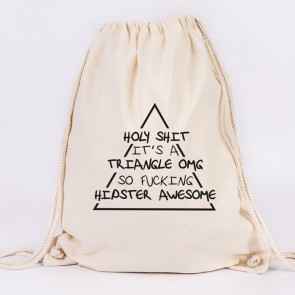 juniwords tunbeutel hipster triangle natur