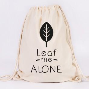 juniwords turnbeutel leaf me alone natur
