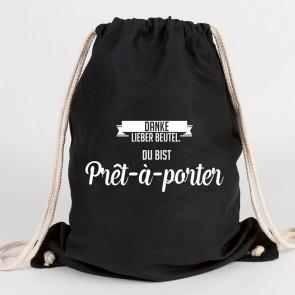 juniwords turnbeutel pret-a-porter schwarz