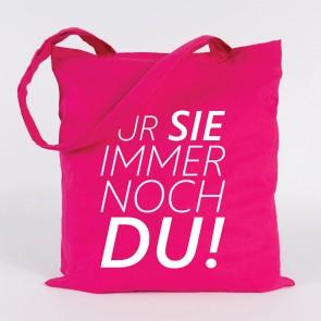 JUNIWORDS Jutebeutel Für Sie immer noch Du! Pink