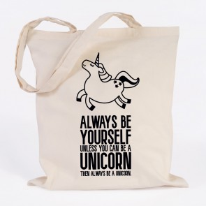 JUNIWORDS Jutebeutel always be a unicorn