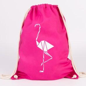 JUNIWORDS Turnbeutel Origami Flamingo