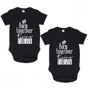 "JUNIWORDS Babybodies ""Born together twins forever"" 