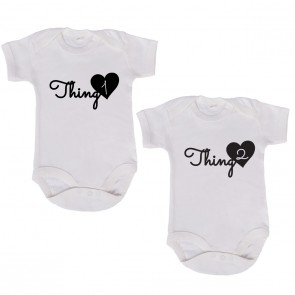 "JUNIWORDS Babybodies ""Thing 1 & Thing 2"" 