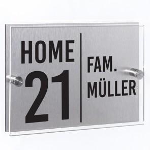 Hausnummernschild Home