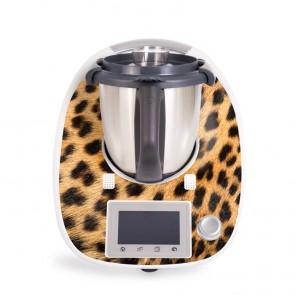 Aufkleber für Vorwerk Thermomix TM5 - Leopardenfell