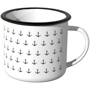 JUNIWORDS Emaille Tasse Anker