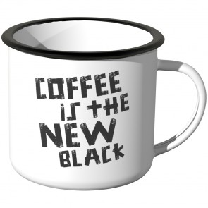 JUNIWORDS Emaille Tasse Coffee is the new black