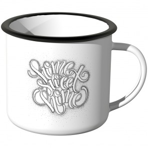JUNIWORDS Emaille Tasse home sweet home