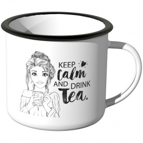 Emaille Tasse Keep calm and drink tea