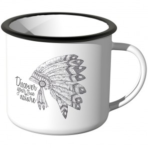 Emaille Tasse discover your nature