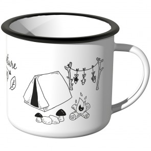 JUNIWORDS Emaille Tasse Adventure camp