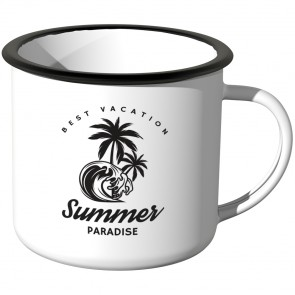 JUNIWORDS Emaille Tasse Summer Paradies
