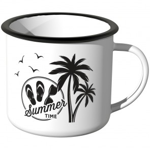 Emaille Tasse Summer Time