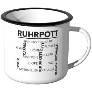 Emaille Tasse Ruhrpott - Wörter