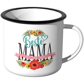 Emaille Tasse Beste Mama auf der Welt