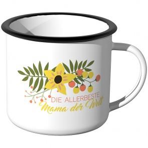 Emaille Tasse Die allerbeste Mama der Welt