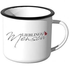 Emaille Tasse Lieblingsmensch - Motiv 3