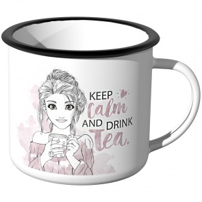 JUNIWORDS Emaille Tasse keep calm and drink tea - Aquarell