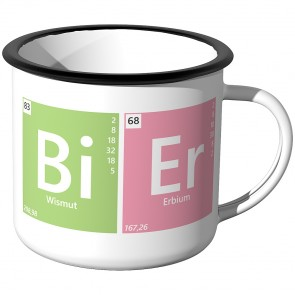 Emaille Tasse Periodensystem - Bier