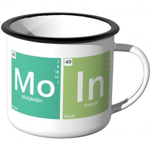 Emaille Tasse Periodensystem - Moin - Motiv 1