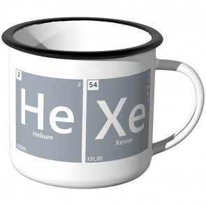 Emaille Tasse Periodensystem - Hexe