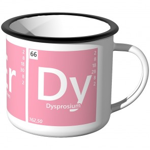 Emaille Tasse Periodensystem - Nerdy