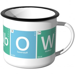 JUNIWORDS Emaille Tasse Periodensystem - Rainbow