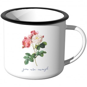 Emaille Tasse you are enough