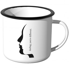 Emaille Tasse darling, you are different