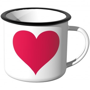 Emaille Tasse Rotes Herz