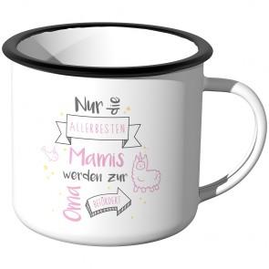Emaille Tasse Nur die allerbesten Mamis werden zur Oma befördert - Motiv 9