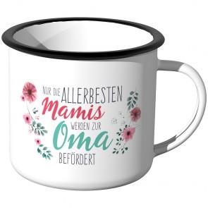 Emaille Tasse Nur die allerbesten Mamis werden zur Oma befördert - Motiv 12
