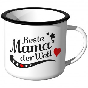 Emaille Tasse Beste Mama der Welt Motiv 2