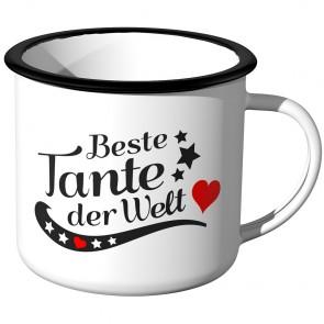 JUNIWORDS Emaille Tasse Beste Tante der Welt