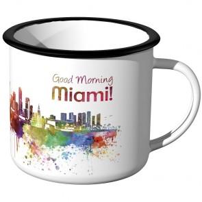 Emaille Tasse Skyline Miami