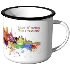 Emaille Tasse Skyline San-Francisco