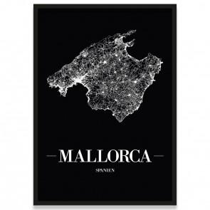 Mallorca Poster mit Bilderrahmen
