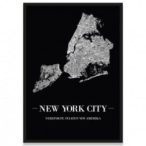 New York City Straßennetz Poster