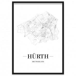 Stadtposter Hürth Stadtplan
