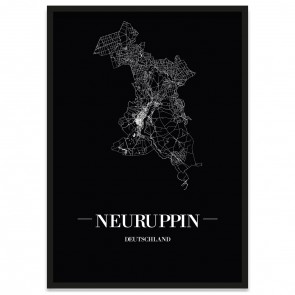 Stadtposter Neuruppin - black