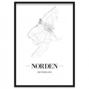 Stadtposter Norden Rahmen