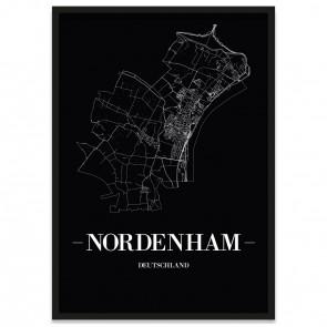 Stadtposter Nordenham - black