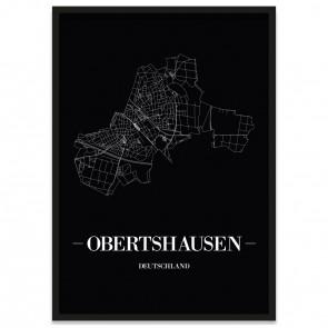 Stadtposter Obertshausen - black