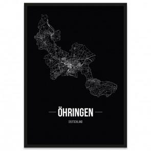Stadtposter Öhringen - black