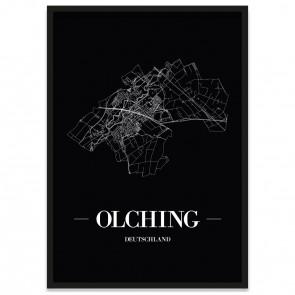 Stadtposter Olching - black